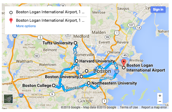 Suggested College Tour Itineraries College Kickstart – Boston Map Tourist
