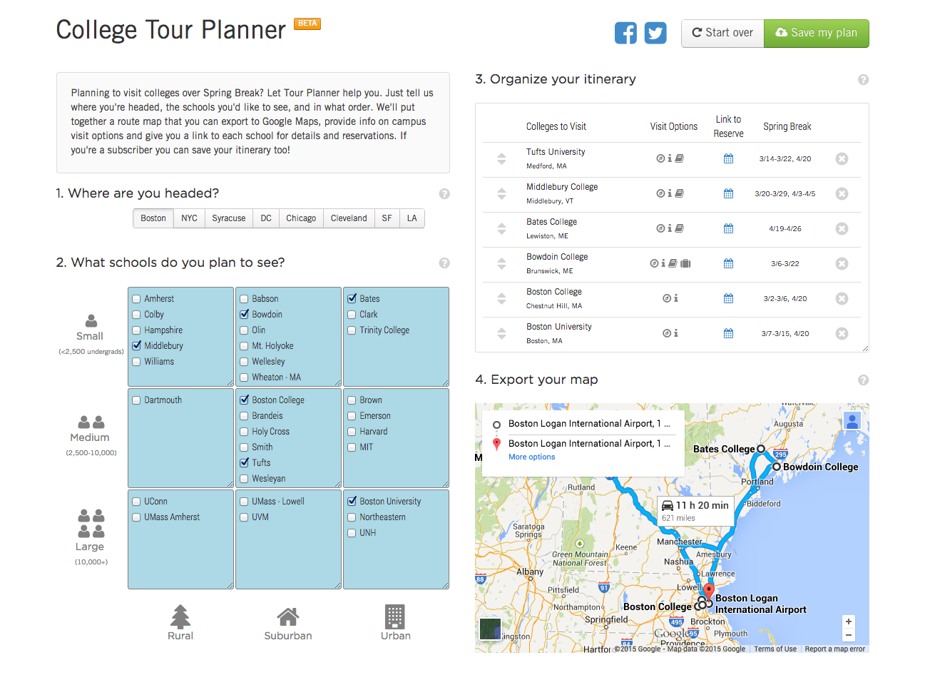 introducing the college tour planner college kickstart
