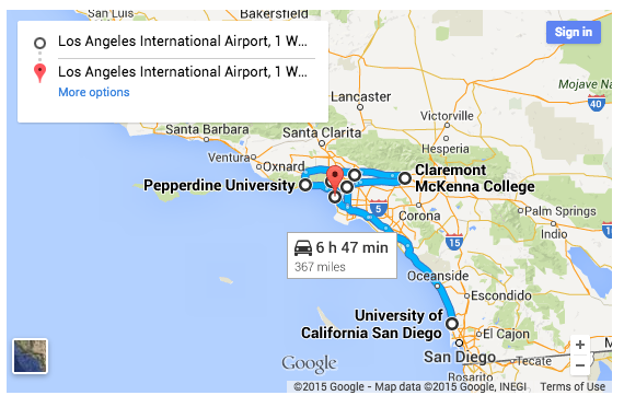 Universities And Colleges In California Map.Suggested College Tour Itineraries College Kickstart